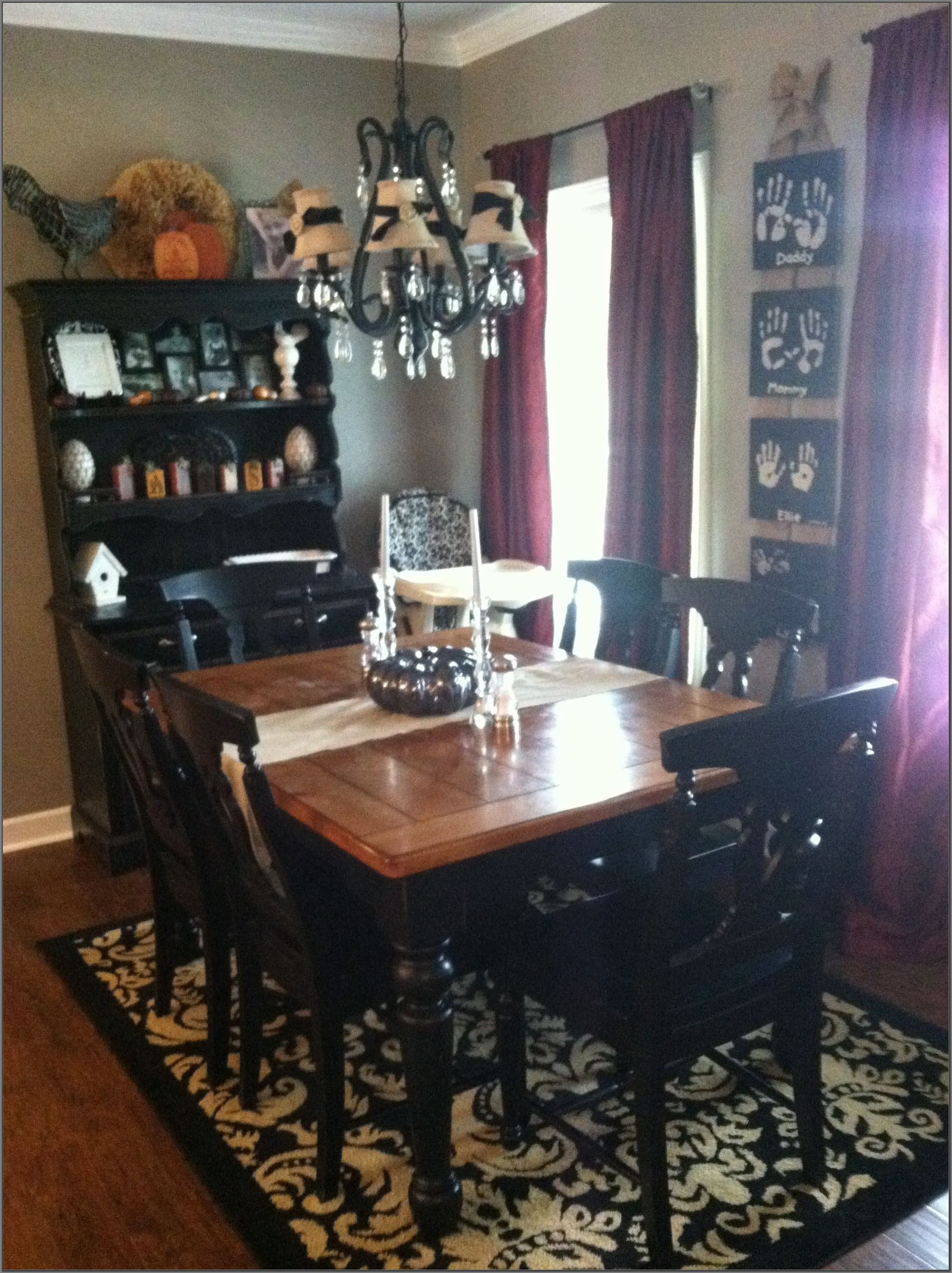 Black Distressed Dining Room Furniture