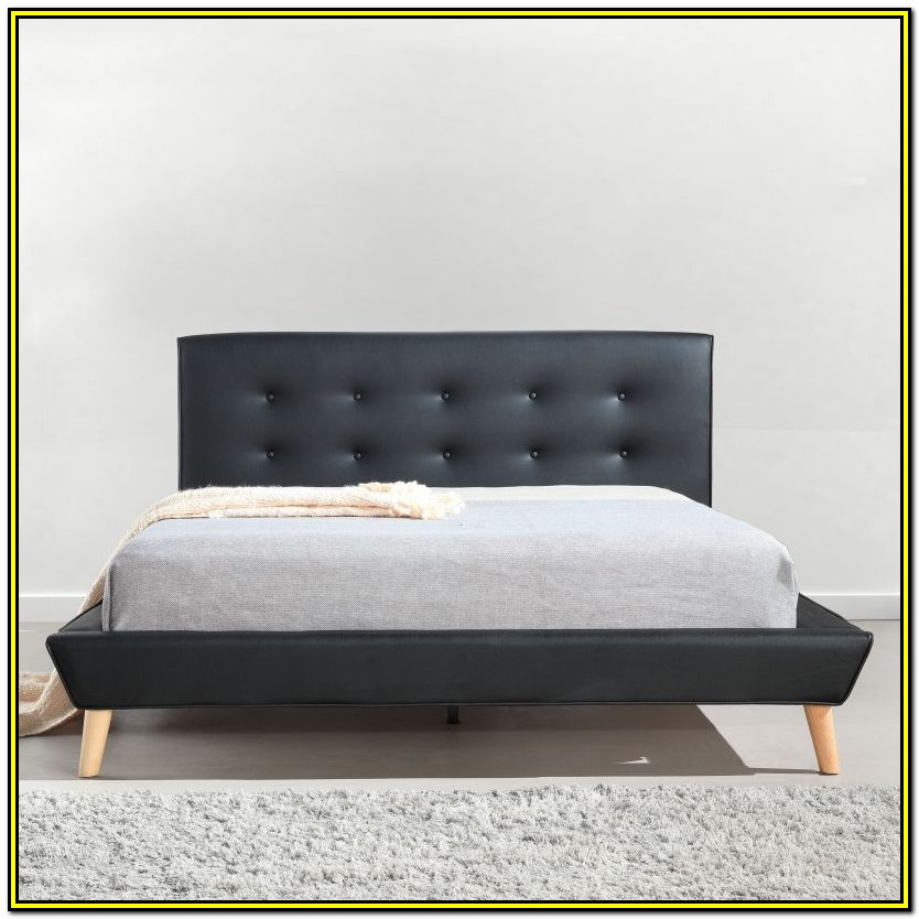 Black Tufted Bed Frame Queen