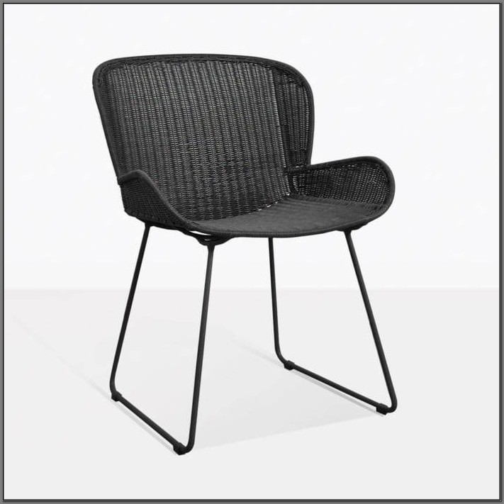 Black Wicker Dining Room Chairs
