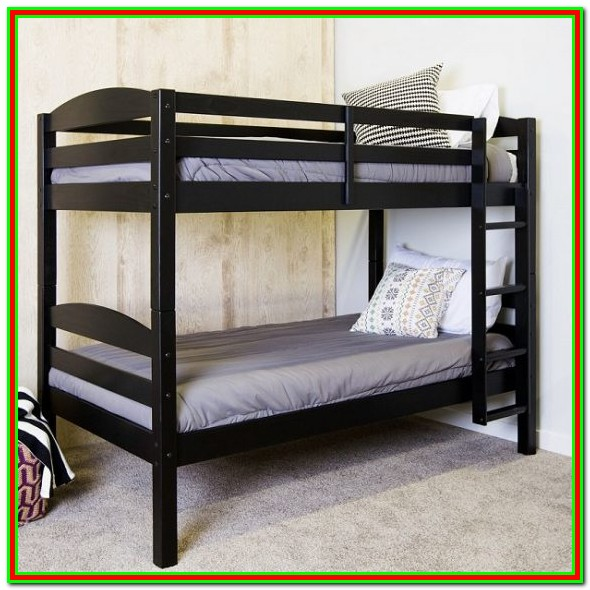Black Wood Bunk Beds Twin Over Full