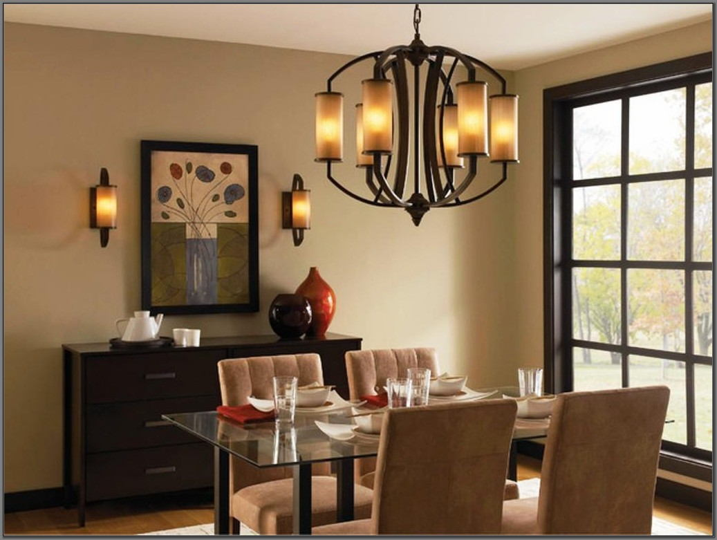 Bronze Light Fixtures Dining Room