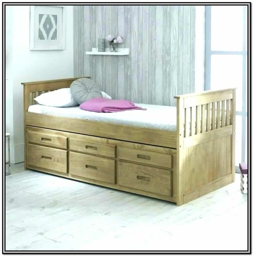 Captains Single Bed With Trundle And 3 Drawers