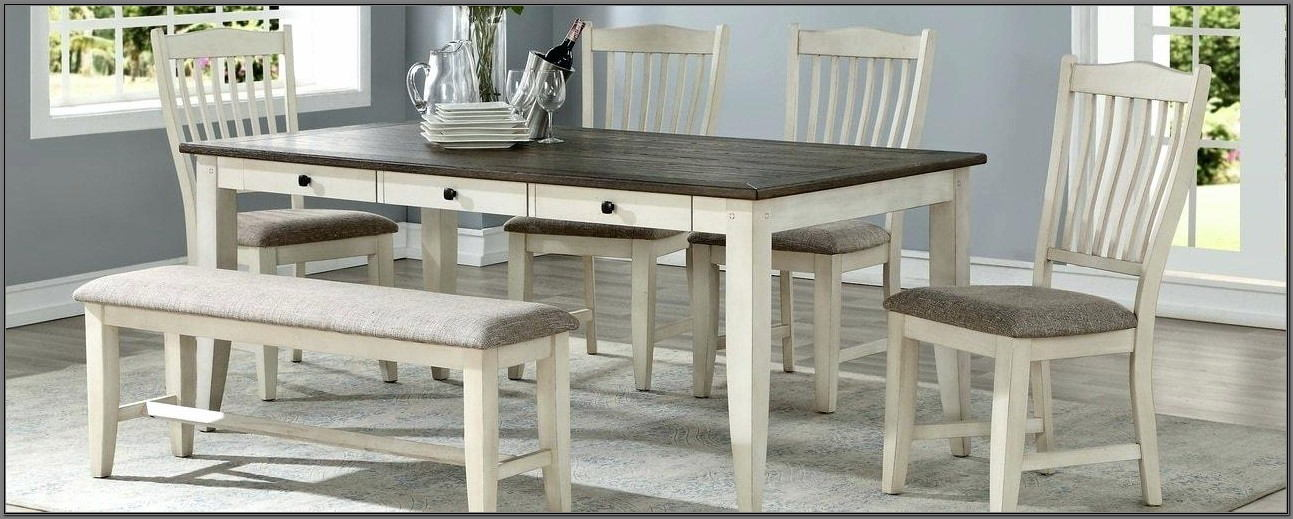 Champagne Dining Room Furniture 6 Piece Set