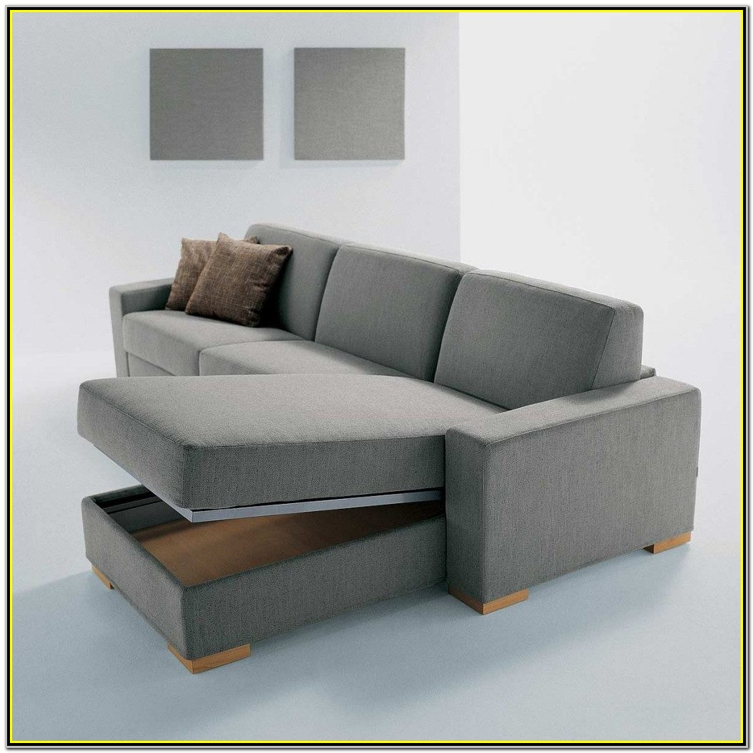 Convertible Futon Sofa Bed With Storage