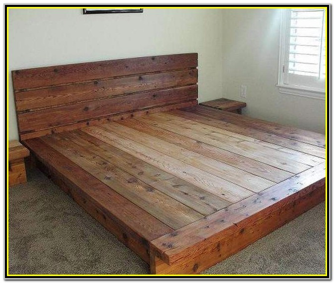 Diy King Size Platform Bed Plans