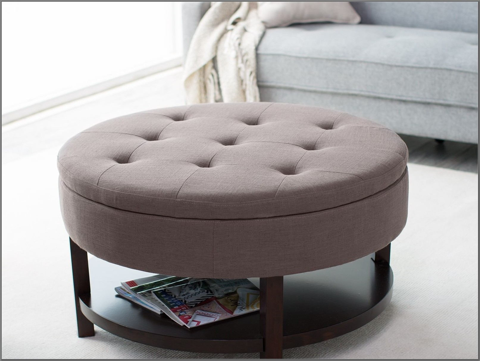 Diy Round Ottoman Coffee Table
