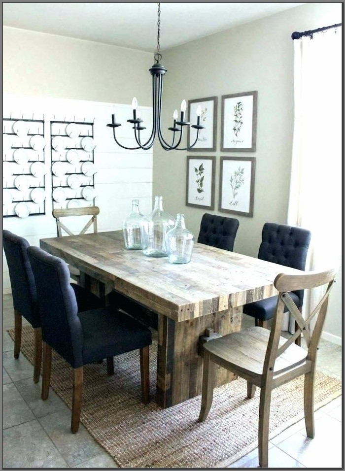 Farmhouse Dining Room Table With Leaf