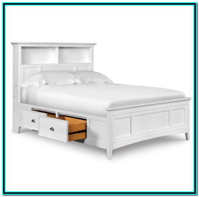 Full Bed Frame With Drawers Plans