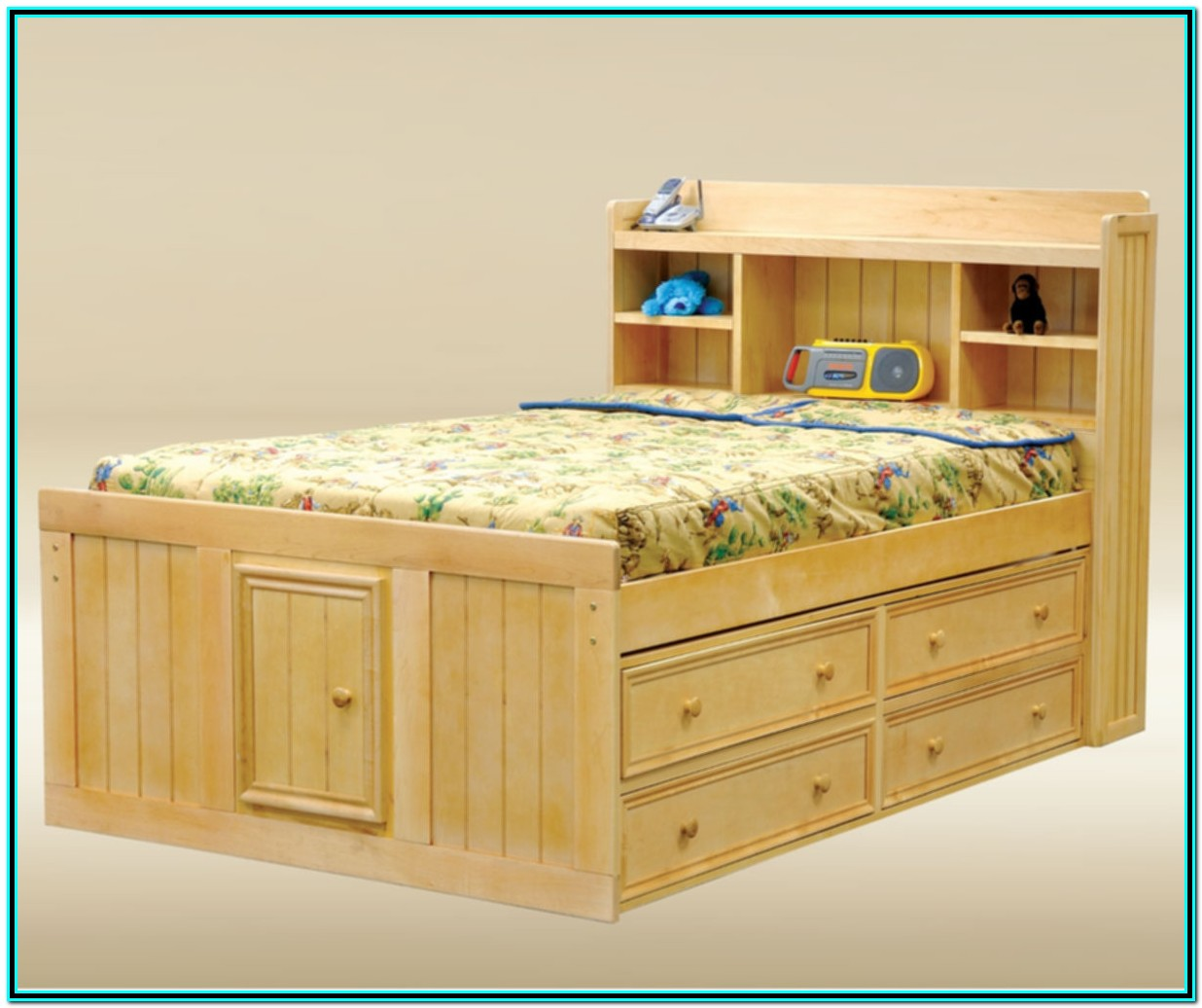 Full Captains Bed With Drawers
