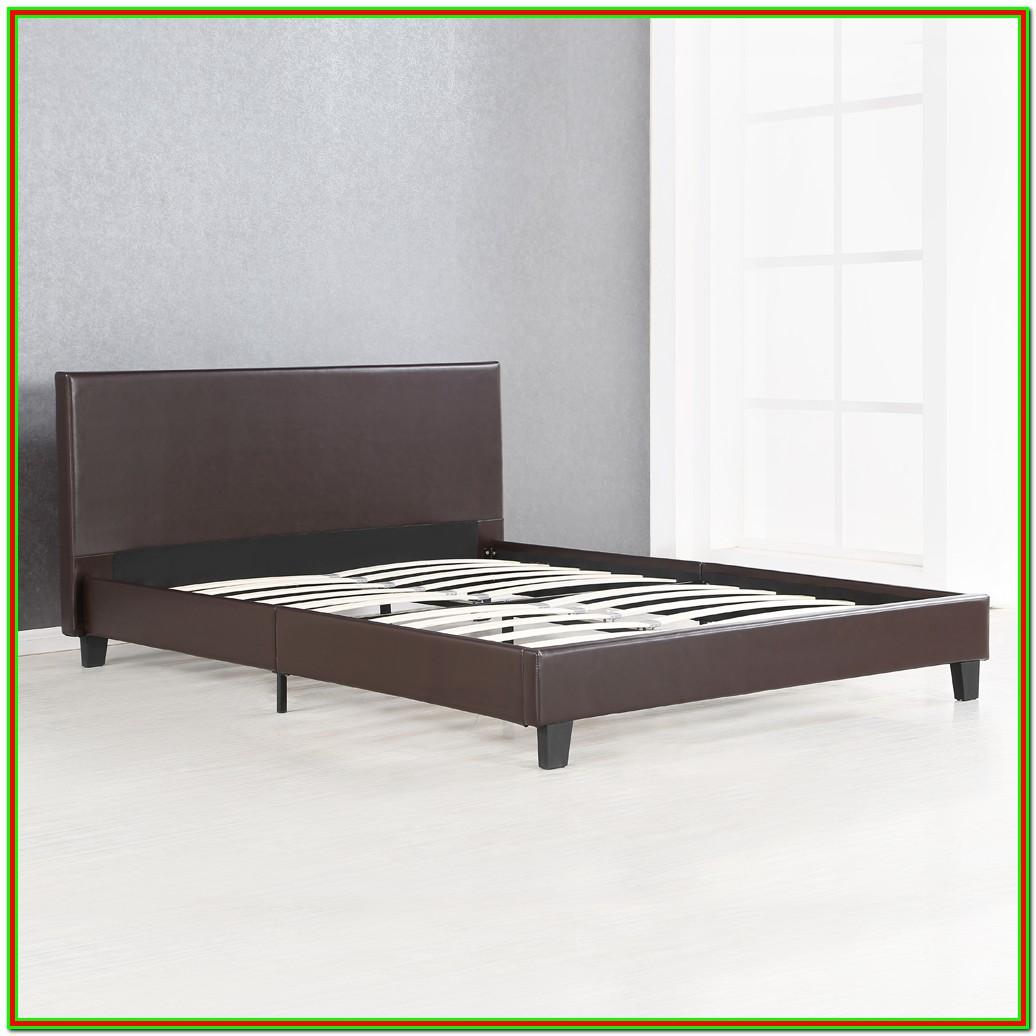 Full Platform Bed Frame With Headboard