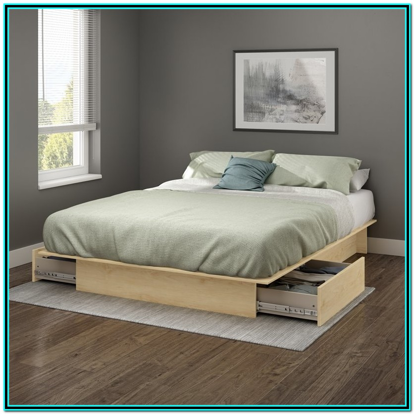 Full Platform Bed With Storage And Headboard