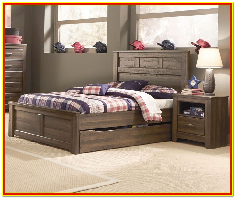 Full Size Bed Frame With Twin Trundle