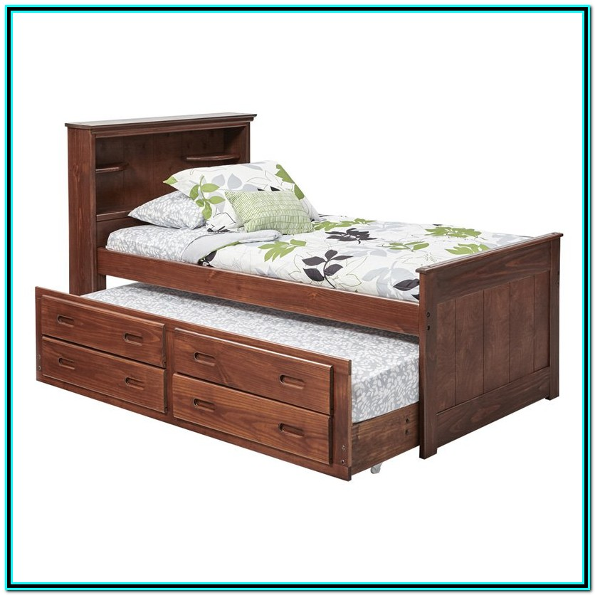 Full Size Captains Bed With Drawers