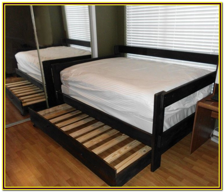 Full Size Daybed Frame With Trundle