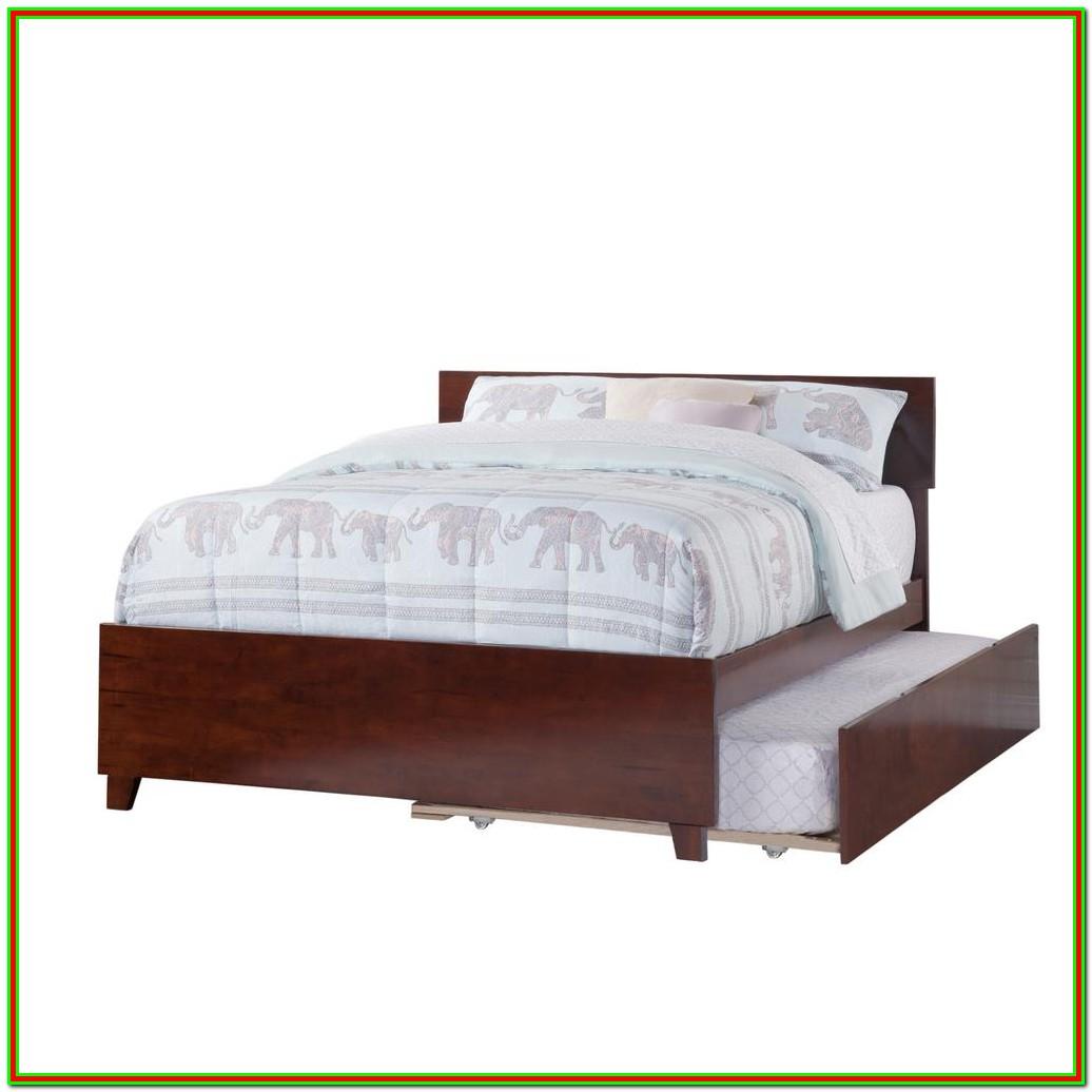 Full Size Platform Bed Frame With Trundle