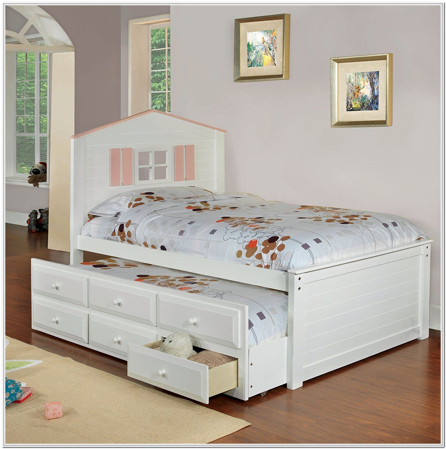 Full Size Trundle Beds With Drawers