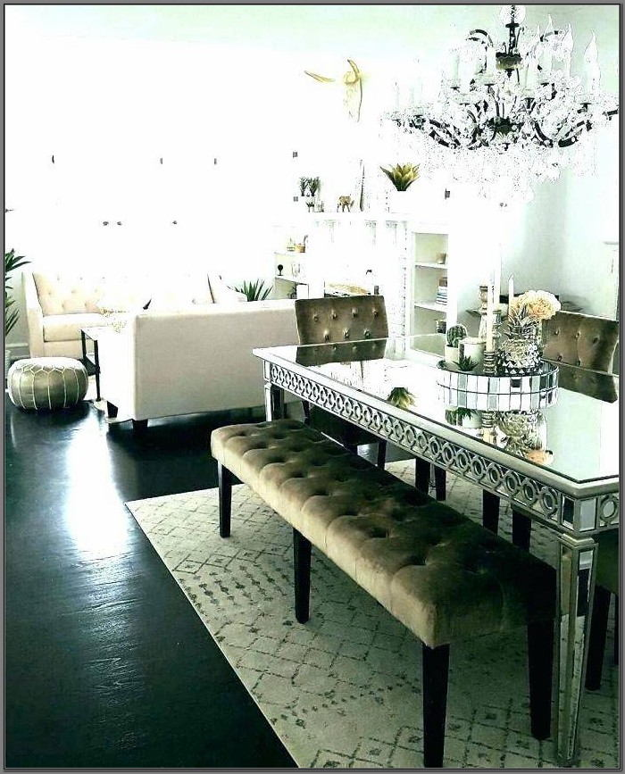 Glass Mirror Dining Room Table