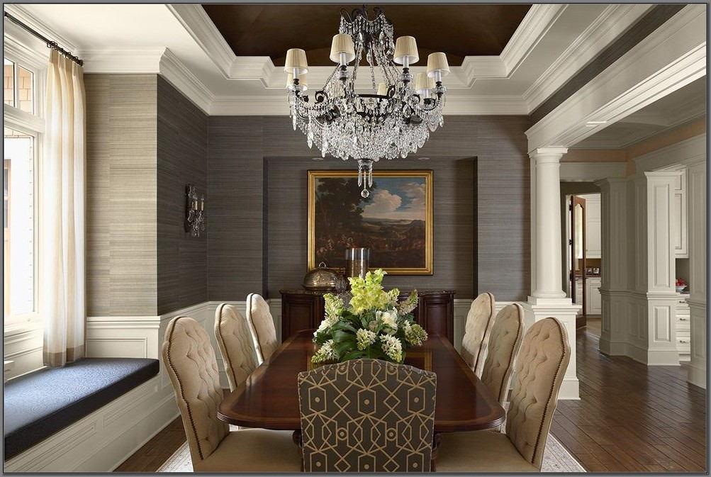 Grass Cloth Wallpaper Dining Room