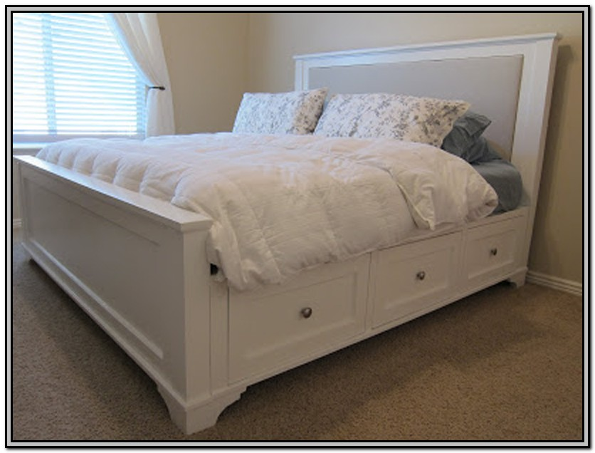 Homemade King Size Bed Frame With Storage