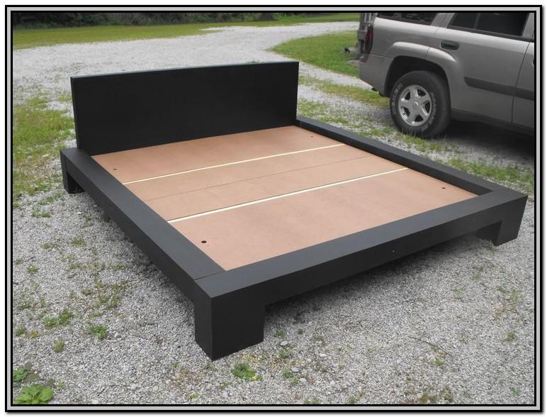 Homemade King Size Platform Bed Frame