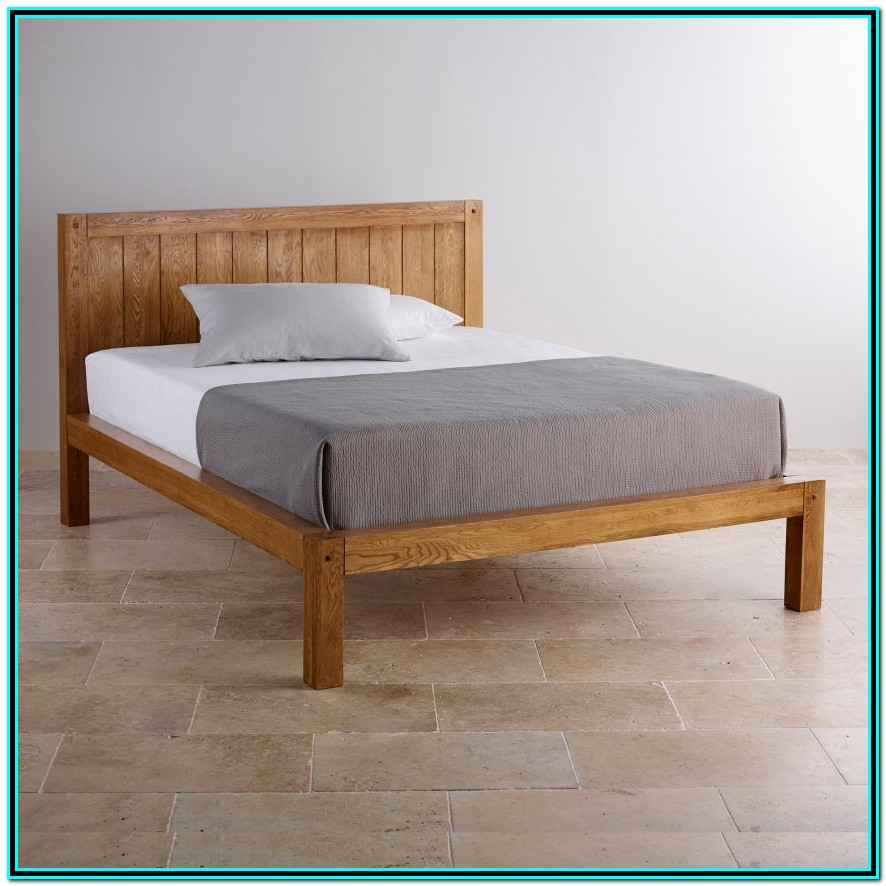 King Size Solid Wood Bed Frame With Storage