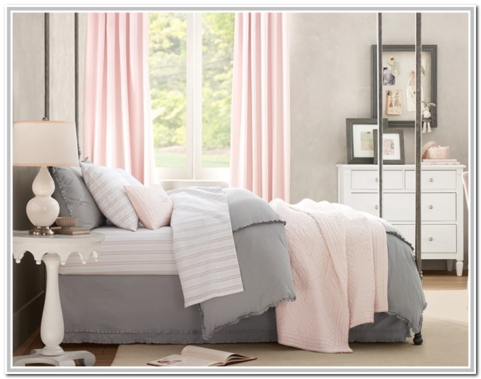 Light Pink And Grey Bedding