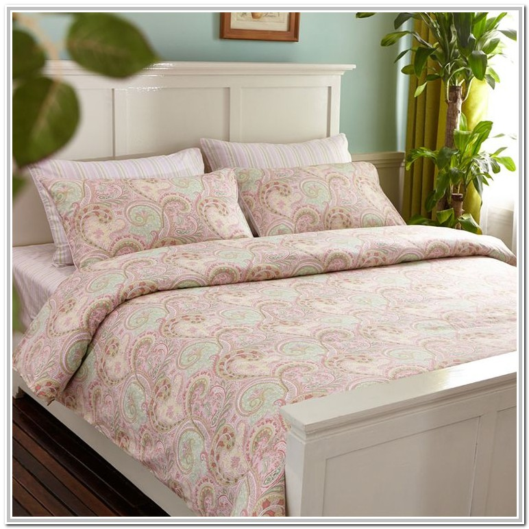 Light Pink And Grey Single Bedding