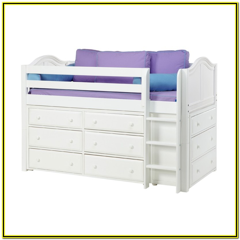 Low Loft Bed With Storage Full