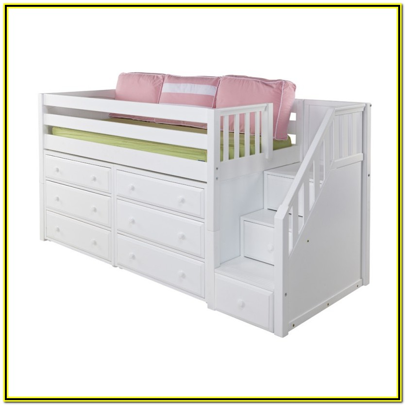 Low Loft Bed With Storage Stairs