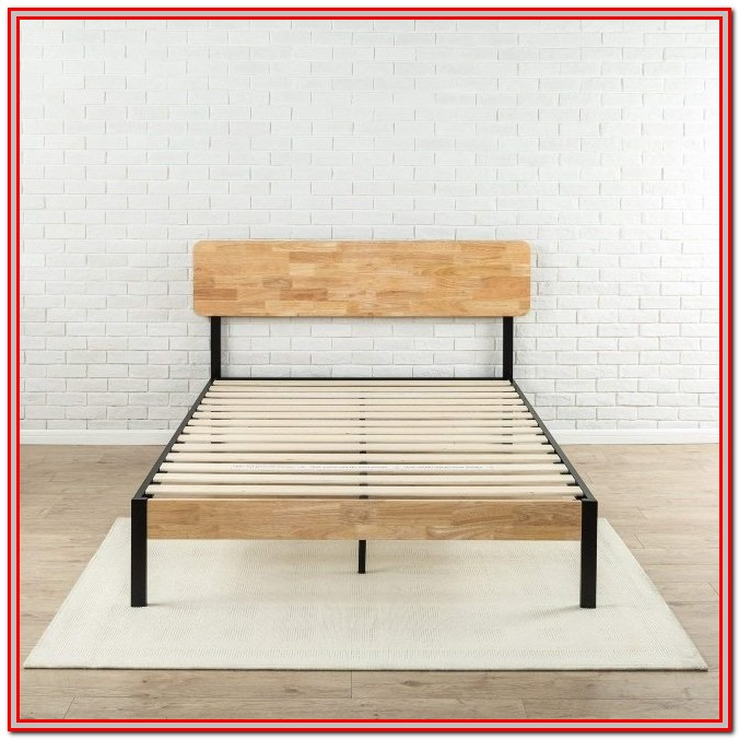 Memory Foam Mattress Slatted Bed Frame