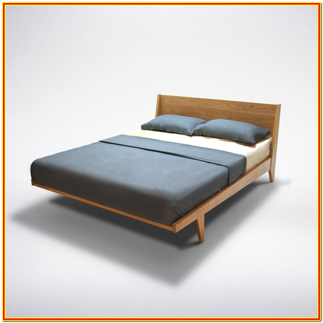 Mid Century Platform Bed Wood