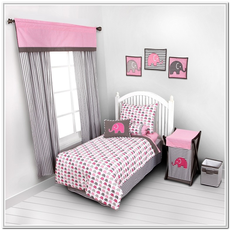 Pink And Gray Baby Bedding Sets