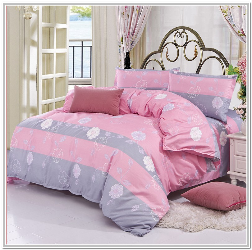 Pink And Gray Bedding Full Size