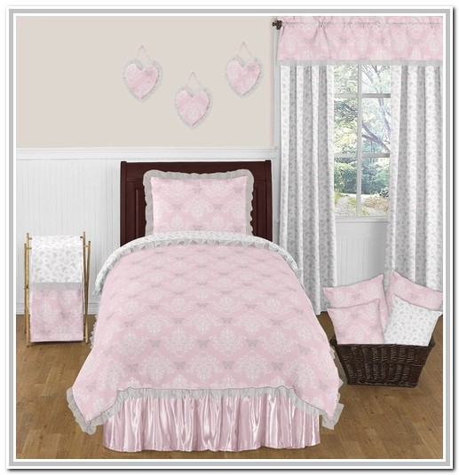 Pink And Grey Twin Bedding Sets