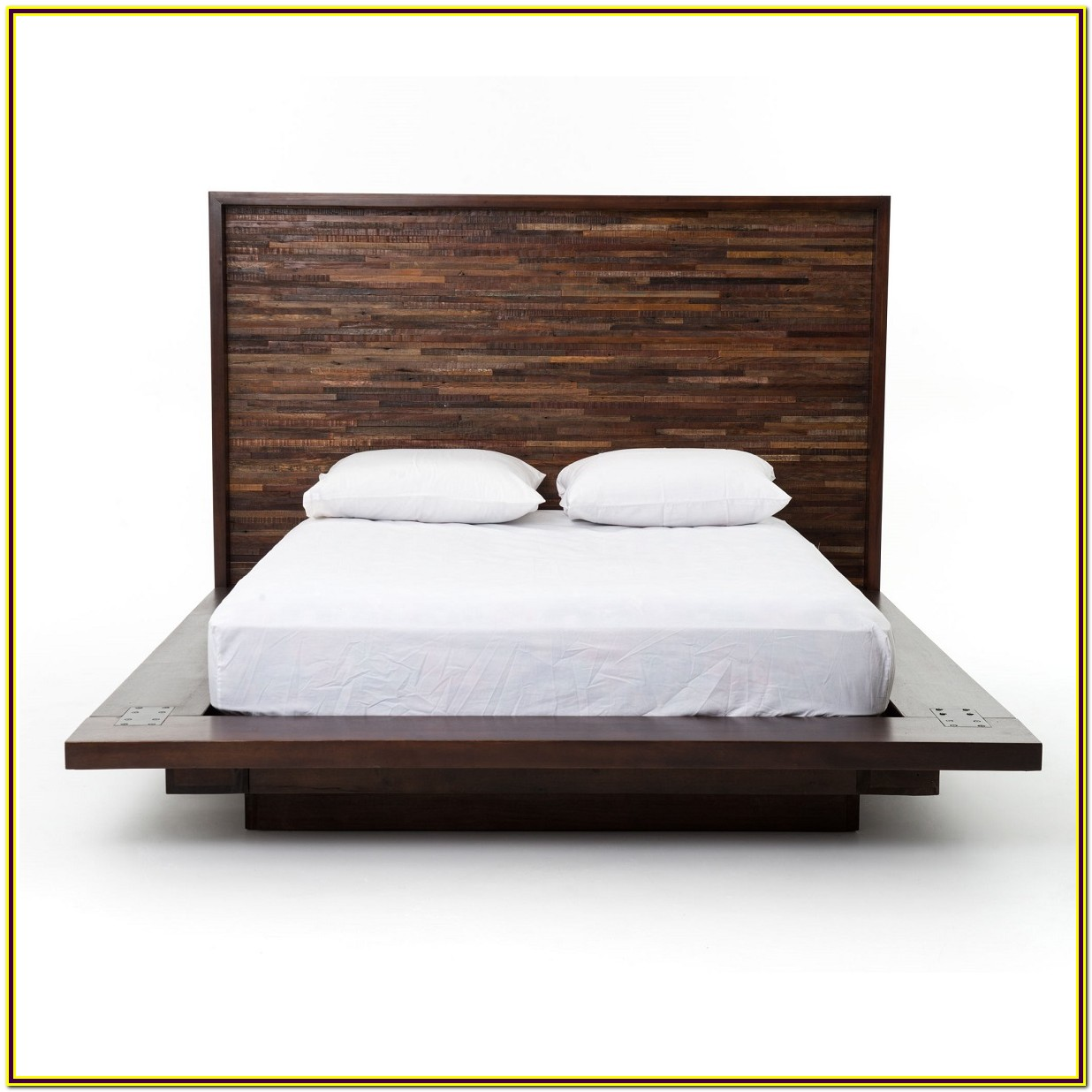 Platform Bed Frame Queen Real Wood