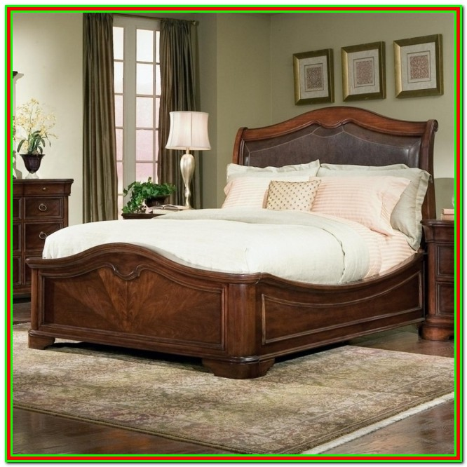 Platform Bed Frame With Headboard Attachment