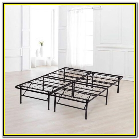 Platform King Size Bed Frame For Mattress 14 Foldable Metal Steel Heavy Duty