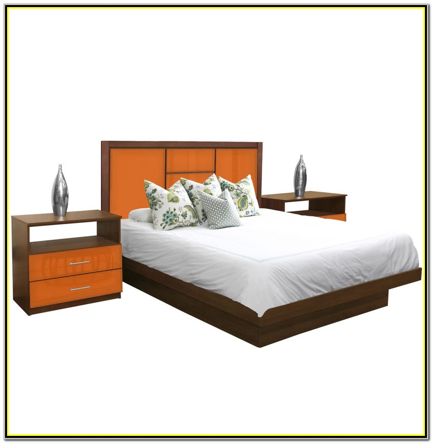 Platform King Size Bed Set
