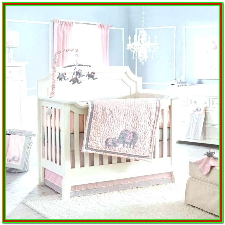 Purple And Green Crib Bedding