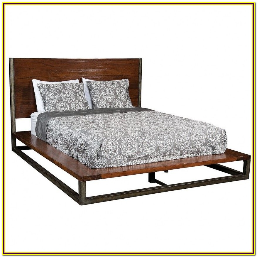 Queen Bed Frame Wood And Metal