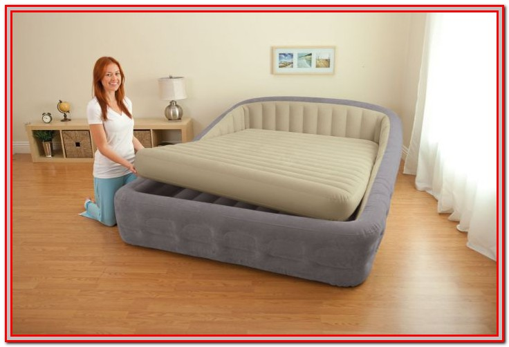 Queen Size Air Mattress Bed Frame