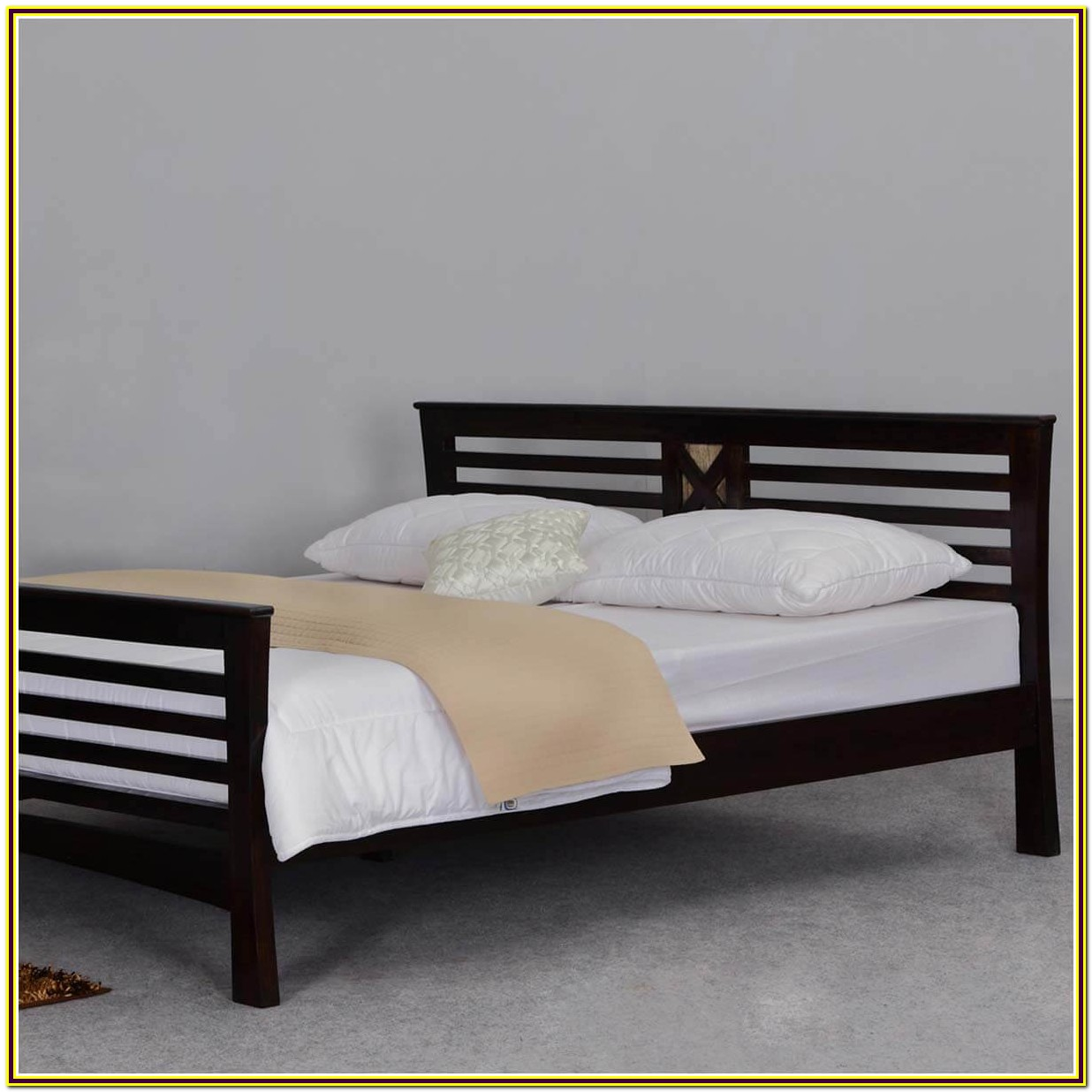 Queen Size Bed Frame Solid Wood