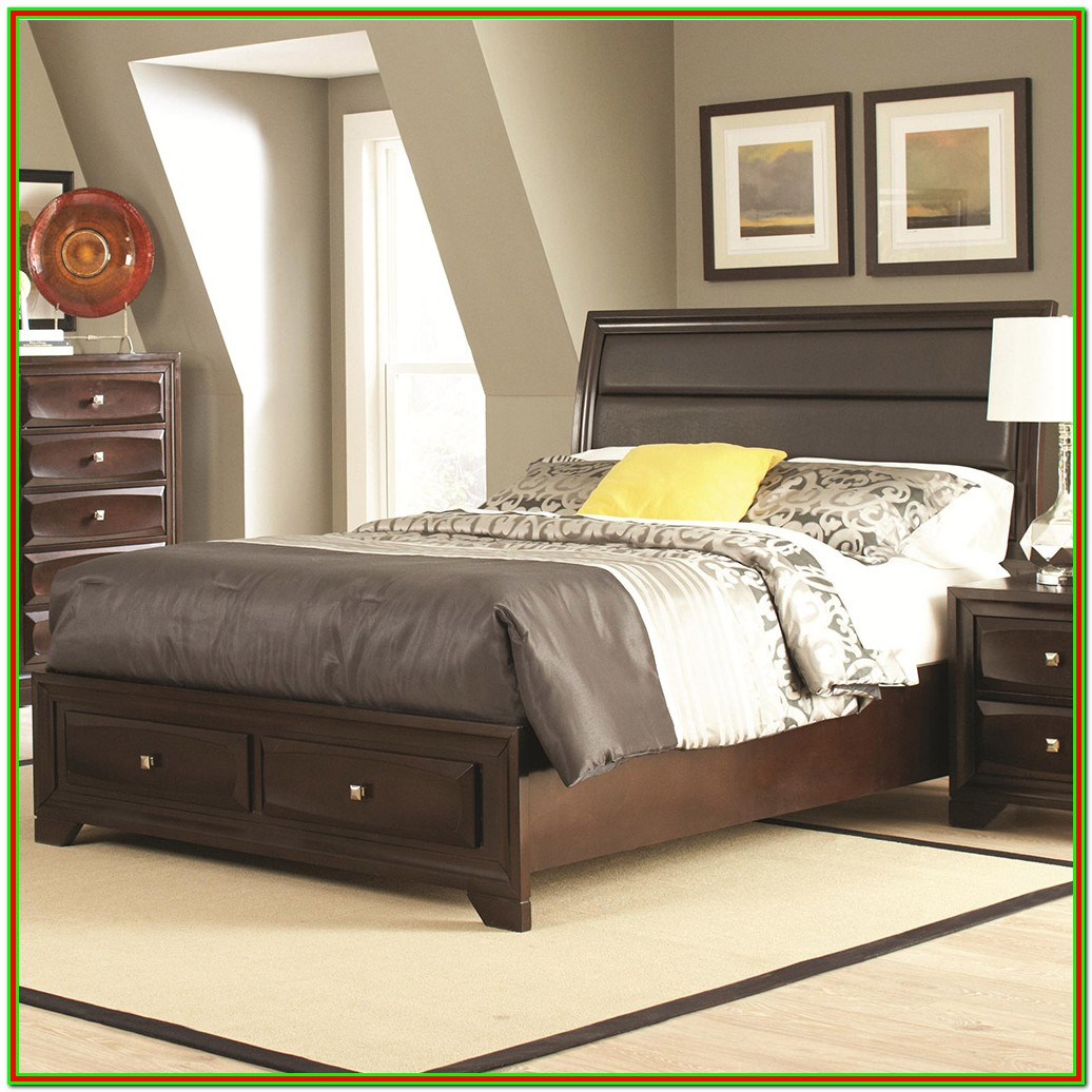 Queen Size Bed Frame With Headboard And Storage