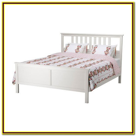 Queen Size White Wood Bed Frame