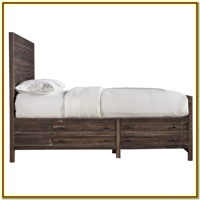 Queen Storage Bed Frame Solid Wood