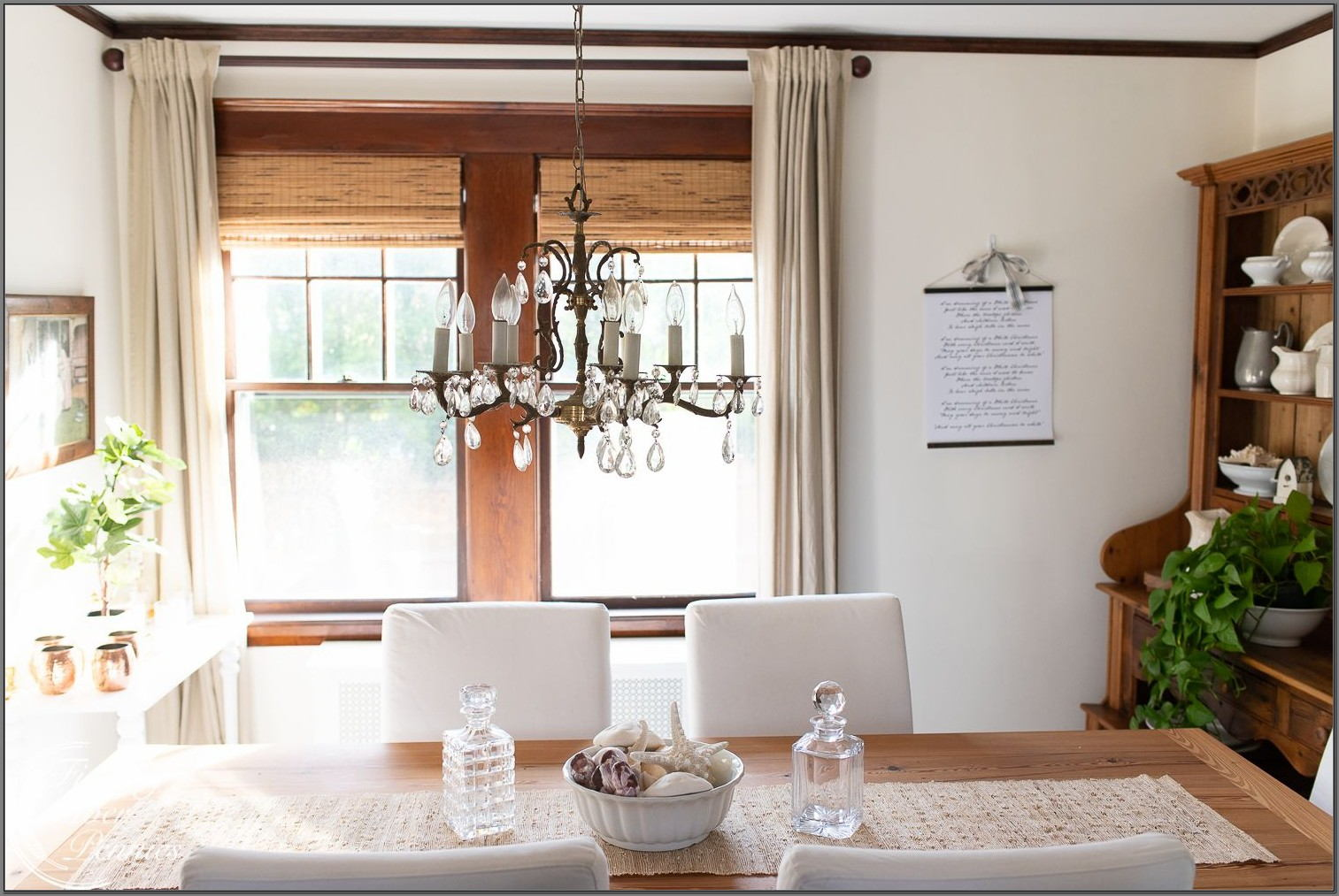 Roman Shades For Dining Room