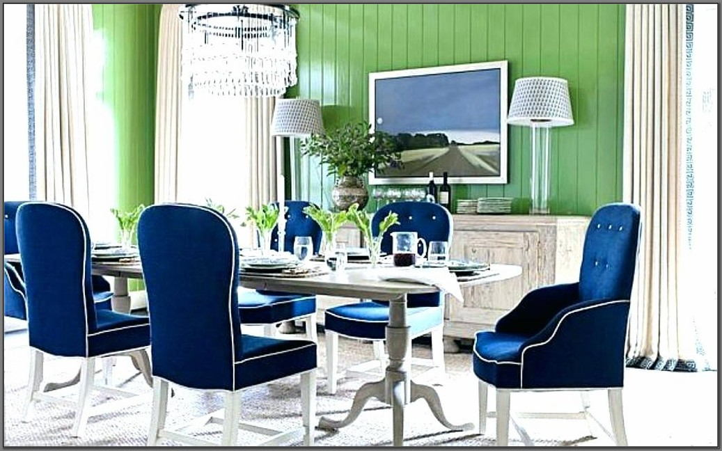 Royal Blue Dining Room Set