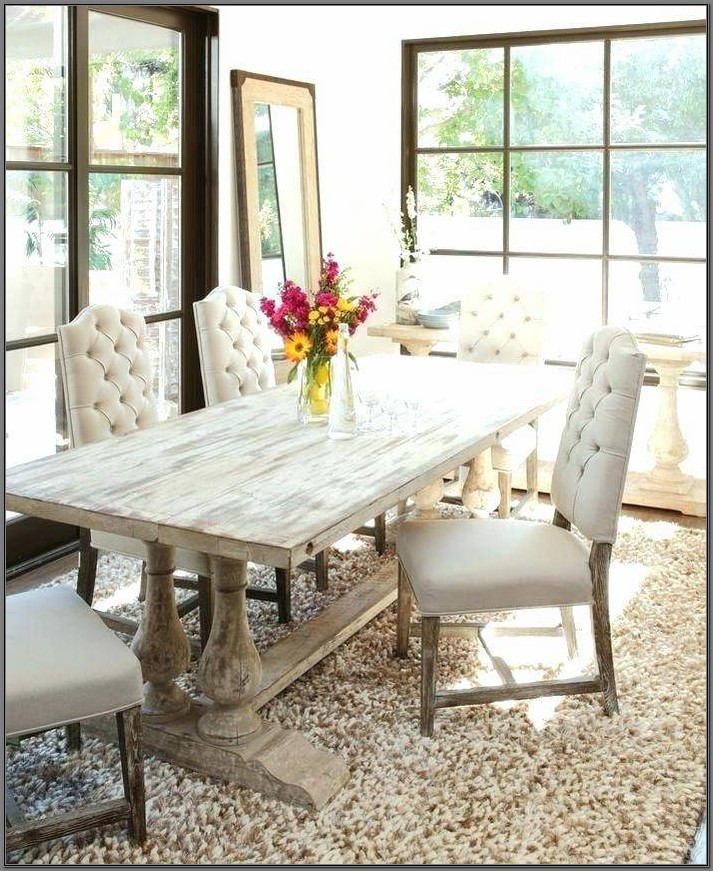 Rustic White Dining Room Table