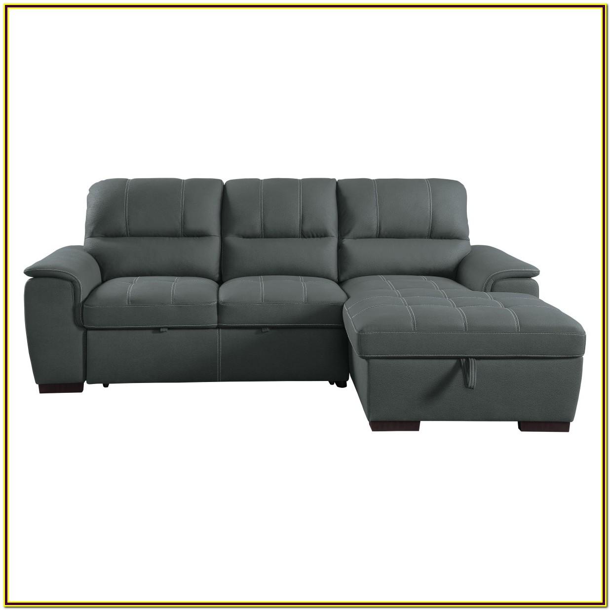 Sectional With Pull Out Bed And Storage