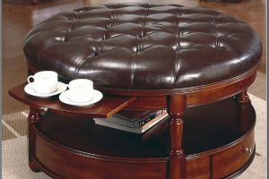 Small Round Ottoman Coffee Table
